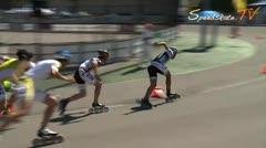 MediaID=37489 - 9.Internationales Speedskate Kriterium Wörgl - Junior A men, 500m final 1