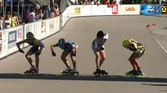 MediaID=37490 - 9.Internationales Speedskate Kriterium Wörgl - Cadet Girls, 500m final 1