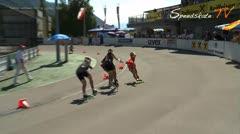 MediaID=37492 - 9.Internationales Speedskate Kriterium Wörgl - Senior women, 500m sprint final 1