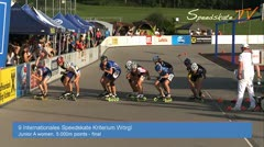 MediaID=37506 - 9.Internationales Speedskate Kriterium Wörgl - Junior A women, 5.000m points final 1