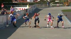 MediaID=37579 - Danish Inline Grandprix Europeancupfinal 2014 - Cadet Girls, 1.000m semifinal2