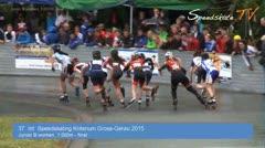 MediaID=37651 - 37. Int. Speedskating Kriterium Gross-Gerau 2015 - Junior B women, 1.000m final