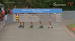 MediaID=37653 - 37. Int. Speedskating Kriterium Gross-Gerau 2015 - Senior men, 500m sprint semifinal3