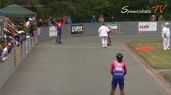 MediaID=37656 - 37. Int. Speedskating Kriterium Gross-Gerau 2015 - Junior A women, 500m semifinal1