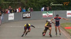 MediaID=37658 - 37. Int. Speedskating Kriterium Gross-Gerau 2015 - Senior men, 500m sprint semifinal3