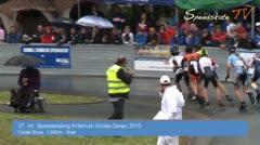 MediaID=37660 - 37. Int. Speedskating Kriterium Gross-Gerau 2015 - Cadet Boys, 1.000m final