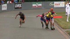 MediaID=37663 - 37. Int. Speedskating Kriterium Gross-Gerau 2015 - Junior A men, 500m semifinal1