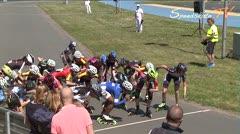 MediaID=38413 - 39. Int. Speedskating Kriterium Gross-Gerau 2017 - Cadet women, 5.000m elimination final