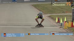 MediaID=38438 - 39. Int. Speedskating Kriterium Gross-Gerau 2017 - Cadet men, 300m time final