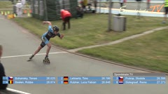 MediaID=38470 - 39. Int. Speedskating Kriterium Gross-Gerau 2017 - Cadet men, 300m time final