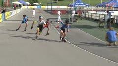 MediaID=38607 - 12.Int. Speedskate Kriterium Wörgl - Cadet men, 500m semifinal2