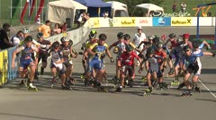MediaID=38625 - 12.Int. Speedskate Kriterium Wörgl - Cadet men, 3.000m points final