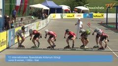 MediaID=38639 - 12.Int. Speedskate Kriterium Wörgl - Cadet men, 1.000m final