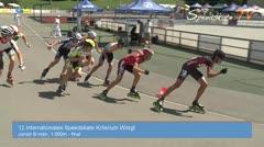 MediaID=38642 - 12.Int. Speedskate Kriterium Wörgl - Junior B women, 1.000m final