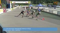 MediaID=38647 - 12.Int. Speedskate Kriterium Wörgl - Cadet women, 500m semifinal1