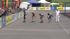 MediaID=39029 - 13.Int SpeedskateKriterium/Europacup Wörgl - Cadet men, 500m semifinal2