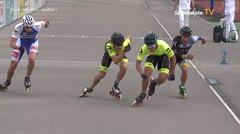 MediaID=39036 - 13.Int SpeedskateKriterium/Europacup Wörgl - Senior men, 500m semifinal1