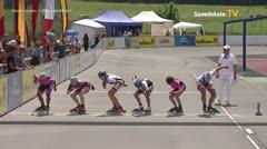 MediaID=39043 - 13.Int SpeedskateKriterium/Europacup Wörgl - Senior women, 1.000m semifinal1