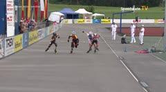 MediaID=39044 - 13.Int SpeedskateKriterium/Europacup Wörgl - Cadet men, 500m semifinal1