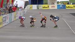 MediaID=39050 - 13.Int SpeedskateKriterium/Europacup Wörgl - Cadet women, 500m semifinal1