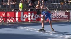 MediaID=39107 - EuropeanChampionships  Roller Speedskating - Junior Ladies, 300m time final