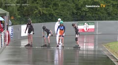 MediaID=39404 - 41. Int. Speedskating Kriterium Gross-Gerau 2019 - Cadet women, 500m semifinal1
