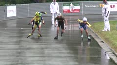 MediaID=39412 - 41. Int. Speedskating Kriterium Gross-Gerau 2019 - Youth Ladies, 500m quaterfinal1