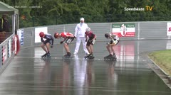 MediaID=39420 - 41. Int. Speedskating Kriterium Gross-Gerau 2019 - Junior Men, 500m quaterfinal2