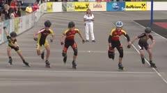 MediaID=39469 - 14.Int SpeedskateKriterium/Europacup Wörgl - Cadet men, 500m quaterfinal2