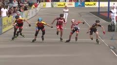 MediaID=39476 - 14.Int SpeedskateKriterium/Europacup Wörgl - Cadet men, 500m quaterfinal4