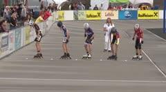 MediaID=39482 - 14.Int SpeedskateKriterium/Europacup Wörgl - Cadet men, 500m quaterfinal1