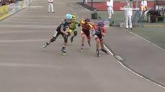 MediaID=39483 - 14.Int SpeedskateKriterium/Europacup Wörgl - Cadet women, 500m quaterfinal2