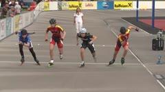 MediaID=39486 - 14.Int SpeedskateKriterium/Europacup Wörgl - Youth Ladies, 500m semifinal2
