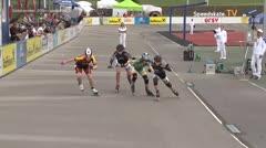 MediaID=39487 - 14.Int SpeedskateKriterium/Europacup Wörgl - Cadet women, 500m quaterfinal3