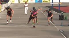 MediaID=39489 - 14.Int SpeedskateKriterium/Europacup Wörgl - Senior men, 500m quaterfinal4