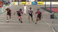 MediaID=39494 - 14.Int SpeedskateKriterium/Europacup Wörgl - Senior men, 500m semifinal1