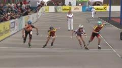 MediaID=39496 - 14.Int SpeedskateKriterium/Europacup Wörgl - Cadet women, 500m quaterfinal1