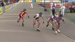 MediaID=39498 - 14.Int SpeedskateKriterium/Europacup Wörgl - Junior women, 500m semifinal2