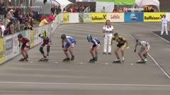 MediaID=39503 - 14.Int SpeedskateKriterium/Europacup Wörgl - Cadet men, 500m quaterfinal3