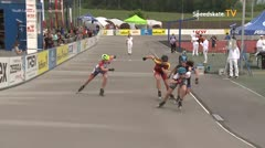 MediaID=39505 - 14.Int SpeedskateKriterium/Europacup Wörgl - Youth Ladies, 500m semifinal1
