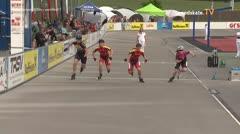 MediaID=39509 - 14.Int SpeedskateKriterium/Europacup Wörgl - Junior women, 500m semifinal1