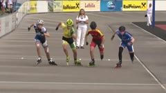 MediaID=39510 - 14.Int SpeedskateKriterium/Europacup W - Youth Ladies, 500m quaterfinal3