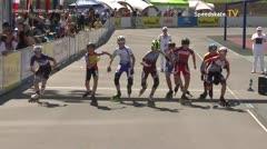 MediaID=39521 - 14.Int SpeedskateKriterium/Europacup Wörgl - Cadet men, 1.000m semifinal2