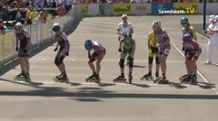 MediaID=39538 - 14.Int SpeedskateKriterium/Europacup Wörgl - Cadet women, 1.000m semifinal2