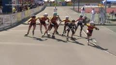 MediaID=39540 - 14.Int SpeedskateKriterium/Europacup Wörgl - Cadet women, 1.000m semifinal1