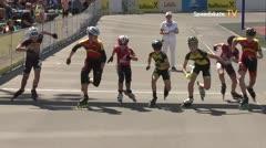 MediaID=39542 - 14.Int SpeedskateKriterium/Europacup Wörgl - Cadet men, 1.000m semifinal1
